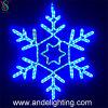 Luzes do motivo do floco de neve do diodo emissor de luz do feriado do Natal 2D