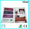 최대 가장 얇은 A4 브로셔 4.3 인치 TFT LCD 영상 인사장, LCD 비디오 카드, 영상 브로셔