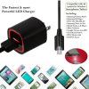 cargador rápido del teléfono celular del Micro-USB 2.1A con el cable de la fecha del tacto del LED