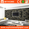 Pièce Wallpaper de TV Background Wall Panel Livng avec Black Color