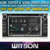 Witson Vios Car 2003-2010 DVD GPS 1080P DSP Capactive Screen WiFi 3G Front DVR Camera OBD Display Steering Wheel Contr para Toyota