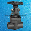 ANSI 800lb/1500lb/2500lb schmiedete manuelle Absperrschieber des Stahl-A105