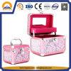 Caso cor-de-rosa da vaidade da composição com espelho e bandeja (HB-3200)
