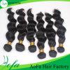 卸し売り工場価格の人間の毛髪のRemyのバージンの毛のよこ糸