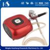 Compresor de aire del maquillaje del aerógrafo de la plantilla del clavo del aerógrafo
