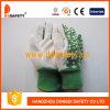 Garten-Handschuh-Blumen-Baumwollrücken-weiße Minipunkte auf Palmen-im Garten arbeitenhandschuhen Dgs404