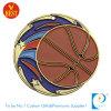 Médaille faite sur commande de cuivre en gros de basket-ball de vernis de traitement au four de logo de Chine