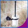 Supporto di spazzola d'ottone accessorio della toletta della stanza da bagno nera di serie di Fyeer