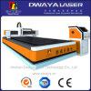 Tagliatrice di fibra ottica del laser di CNC della zolla di alluminio di raffreddamento ad acqua