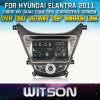 Witson Car DVD para Hyundai Elantra 2010-2013 (W2-D8258Y) Car DVD GPS 1080P DSP Capactive Screen WiFi 3G Front DVR Camera