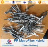 Twisted de alta elasticidade Bundle PP Twist Fiber para Concrete Reinforcement