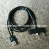 USB 8pin 3.5m m Aux Connector Car Data Audio Cable para el iPhone 5 120cm