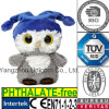 Hibou animal de jouet de peluche de cadeau de bébé de la CE EN71 avec le bonnet de nuit de chapeau