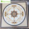 Medallón Waterjet de cerámica del azulejo de mosaico del suelo redondo de la iglesia
