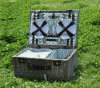 Dishware 부속품 없는 Eco-Friendly 전통적인 직사각형 버드나무 픽크닉 바구니