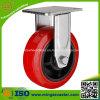 Chasse en plastique de roue de faisceau de polyuréthane rouge fixe