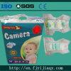 Tecido descartável do bebê da fábrica da boa qualidade do tipo da câmera