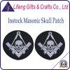 Kundenspezifisches Embropidery Masonic Patch mit Skull Logo