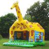 Juguetes inflables de la gorila - juego de salto del castillo de la gorila de la jirafa