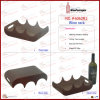 Ziguezague Shape Leather Wine Rack para 3 Bottles (6062R1)