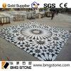 Projeto Waterjet do medalhão do assoalho de mármore branco de pedra atrativo