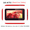 7  Dual Core CPU/HDMI/WiFi (DM-M750)를 가진 인조 인간 Tablet PC