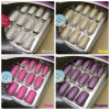 새로운 24tips Gold, Sliver, Purple, Pink Foil Metallic Nail Tips, False Nails, Nail Art, Artificial Nail, Nail Tools, ABS Resin