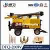 Dfq-200W 200m de Aanhangwagen Opgezette Machine van de Boring van de Put van het Water van de Hamer van het Boorgat DTH