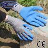 Перчатка безопасности латекса ладони полиэфира Nmsafety 13G покрытая