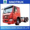 중국 트레일러 판매를 위한 싼 큰 HOWO 디젤 엔진 트럭 트랙터