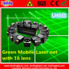 Laser Grasso-Beam verde Net/Curtain di Mobile per Stage Lighting