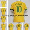 Uniformi 2014 di junior della Jersey Brasile Neymar di calcio di Oscar del Silva di Pele T. del giocatore personalizzate la Jersey di Neymar della tazza di gioco del calcio del Brasile Jersey