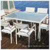 De mooie OpenluchtEettafel van het Meubilair met Gehard/Aangemaakt Glas