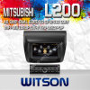 三菱L200 2010-2012年(W2-C094-1)のためのGPSのWitson Car Radio