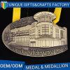 卸し売り最も新しい記念品3Dはカスタマイズされたリボンが付いているメダルに金属をかぶせる