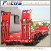 3 remorque de camion de Lowboy de véhicule de transport de charge utile des essieux 60tons