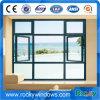 Casement используемый гостиницой одетый древесины верхнего качества PVC Windows с дугой внешней стороны