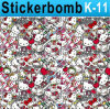 Горячий стикер Graffiti Art Vinyl Decal Graphics Car Body Vinyl стикера Sale Fashion Bomb 1.52X30m
