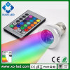 16単一のColors E27/GU10/MR16 RGB LED Light 3W