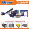 Kleiner Produktionszweig Straßenbetoniermaschine-Ziegelstein des Block-Qt4-20, der Maschinerie herstellt