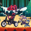 China 3 ruedas de la bicicleta de los niños al por mayor de la fábrica plegable del bebé Trike