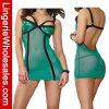 Сетки чашек Sequin Nightwear женщин женское бельё Chemise обольстительной открытой сексуальное