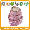 De hart-gevormde Reeksen van de Doos van het Tin voor de Verpakking van de Gift van het Huwelijk van Kerstmis