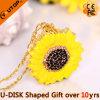 Elegante Förderung-Geschenk-Sonnenblumen USB-grelle Platte (YT-6274)