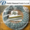 Le diamant a aggloméré le talon au câble métallique de diamant a vu pour le découpage