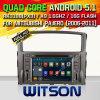 Carro DVD do Android 5.1 de Witson para Mitsubishi Pajero (2006-2011) (W2-F9846Z)
