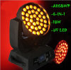 36 * 6in1 18W RGBWA UV Wash LED Zoom Disco éclairage