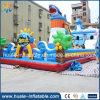 Spaß-Stadt-aufblasbares federnd Schloss mit Wasser-Plättchen, aufblasbares springendes Schloss für Verkauf