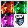 Водоустойчивое напольное 12*15W RGBWA UV 6 в 1 свете РАВЕНСТВА СИД