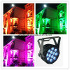 Waterdichte Openlucht12*15W RGBWA UV 6 in 1 LEIDEN Licht van het PARI
